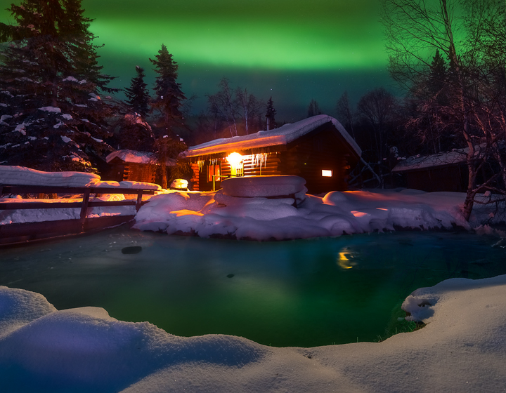 A Warm Winter Cabin Chena Hot Springs, Alaska