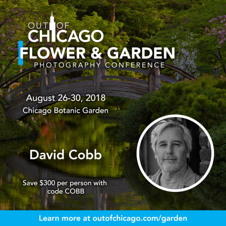 David Cobb at the Out of Chicago Flower & Garden Photography Conference