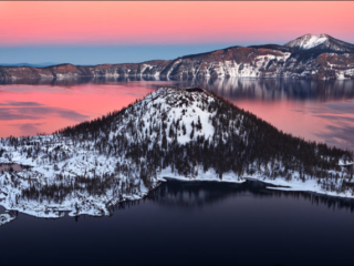 Crater Lake, Winter, Oregon