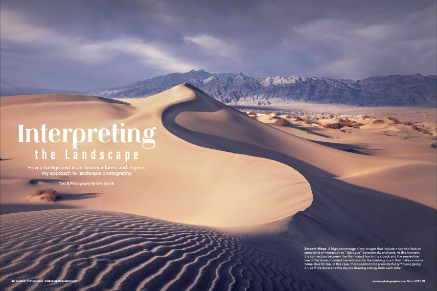 Erin Babnik Feature Article in Outdoor Photographer Magazine